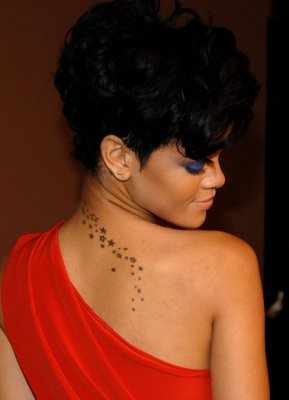 Rihanna's Stars Tattoo Down Her Neck & Back