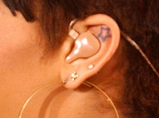 Rihanna's Star Tattoo Inside Her Ear