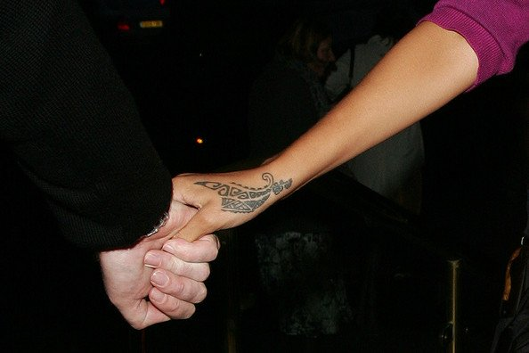 Rihanna's Tribal Dragon Claw Hand Tattoo