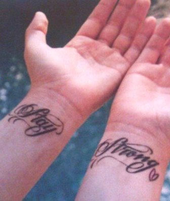 Demi Lovato's Stay Strong Wrist Tattoos