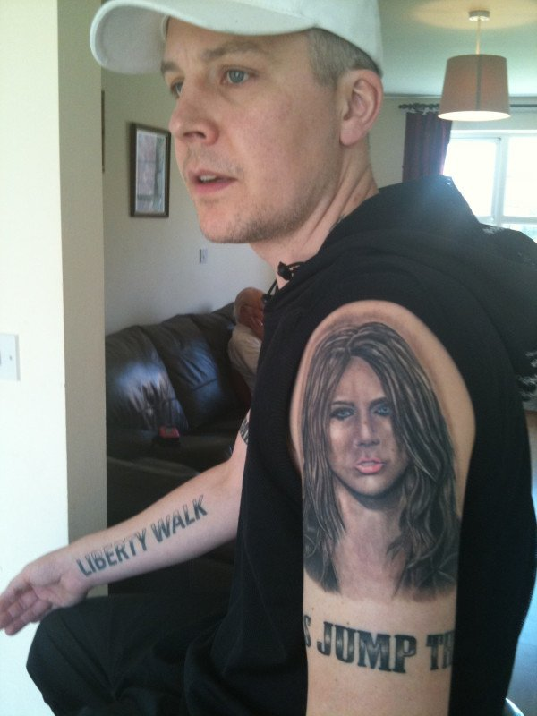 Check Out This Guy's 15 Miley Cyrus Tattoos!