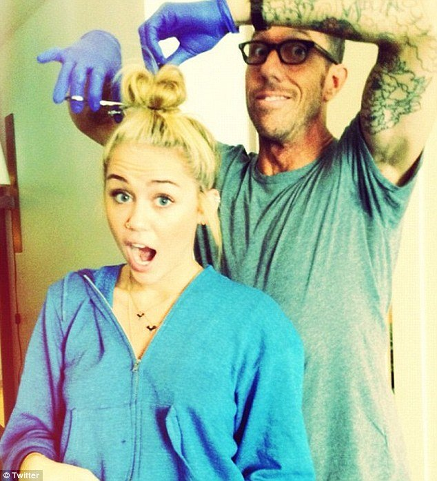 Did Miley Cyrus' Inked-Up Hairdresser Inspire Her Tattoos and New 'Do?