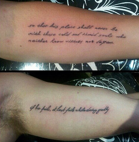 Liam Hemsworth Debuts New Tattoo Matching Miley's Roosevelt Quote