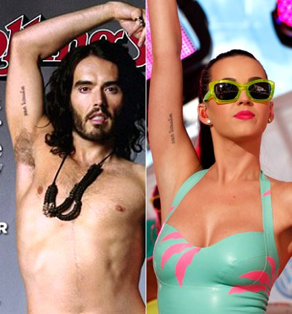 katy perry russel brand tattoo