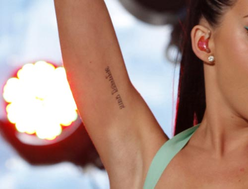 Katy Perry's Arm Sanskrit Tattoo