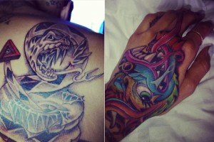 Chris Brown and Karrueche Tran Matching Tattoos