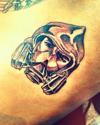 "Chris Brown's New Tattoo – ""The Bandit"""