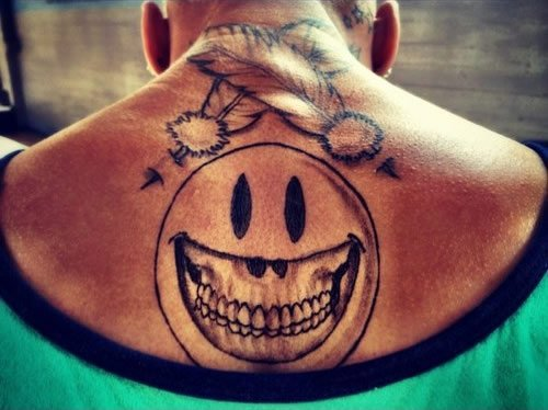 Chris brown tattoo on his back
