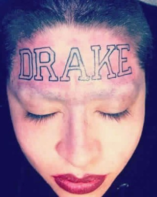 Die-Hard Drake Fan Gets Insane Forehead Tattoo