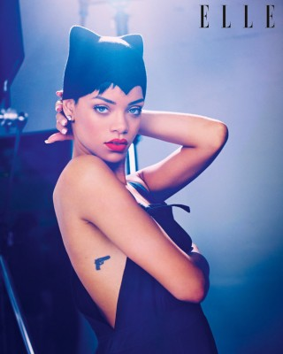 Rihanna Reveals Real Meaning Behind Controversial Gun Tattoo in Elle Interview