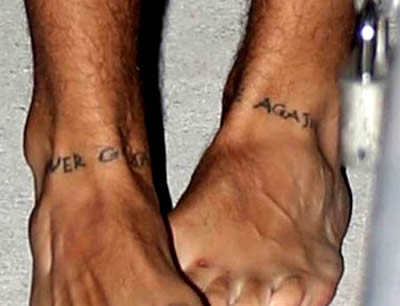 Harry Styles Foot Tattoos