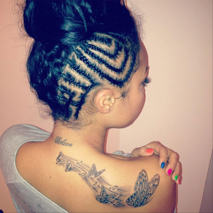 Little Mix S Leigh Anne Pinnock Has A Sweet Butterfly Tattoo On Her