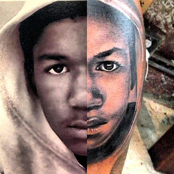 b10915e3150fb The Game Gets Iconic Trayvon Martin Tattoo Inked on His Leg ...