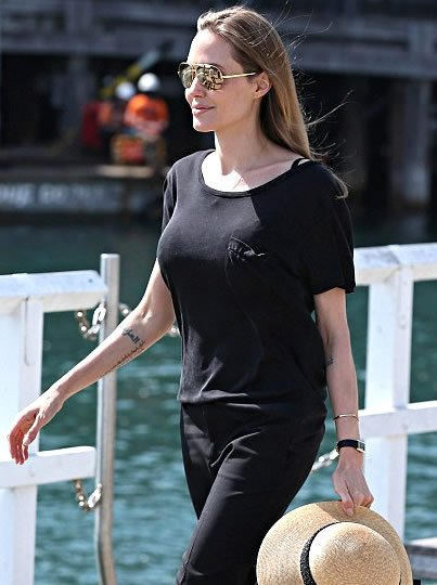 angelina jolie reveals mysterious new arabic tattoo on her