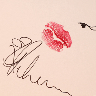 Pucker up rihanna katy perry others auction lipstick for Lipstick kiss tattoo