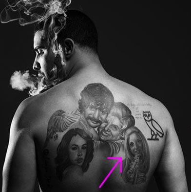 Mystery Woman in Drake's Giant Family Portrait Tattoo is….His Mother!