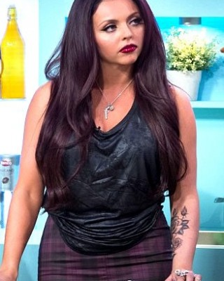Little Mix's Jesy Nelson Shows Off New Black & White Roses Tattoo on Her Arm