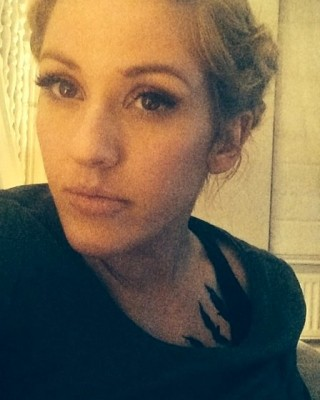 "Ellie Goulding Gets Blackbirds Tattoo Tribute to ""Divergent"" Movie"