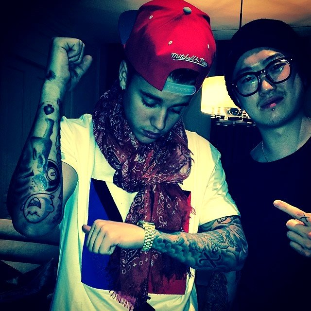 Justin Bieber Adds Close to a Dozen New Tattoos to His Half-Sleeve