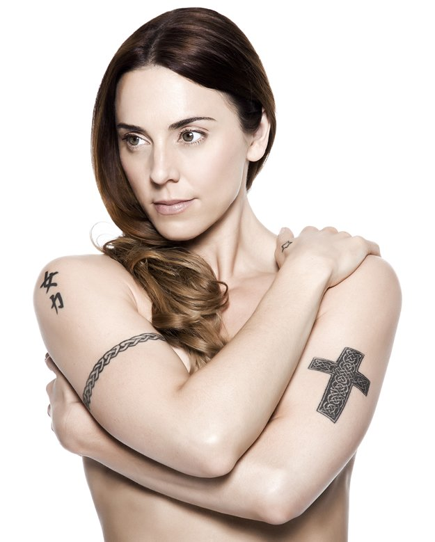 Former Spice Girl Mel C Adds Feather Tattoo to Celtic Arm Band Ink