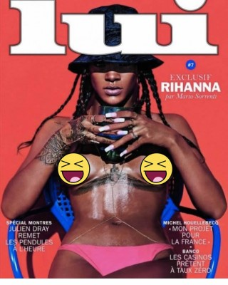 Rihanna Shows Off a Nip Ring in French Magazine Spread