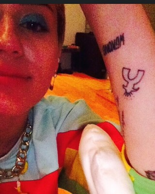 Miley Cyrus Gets Matching Robot Arm Tattoo With Bestie, Wayne Coyne