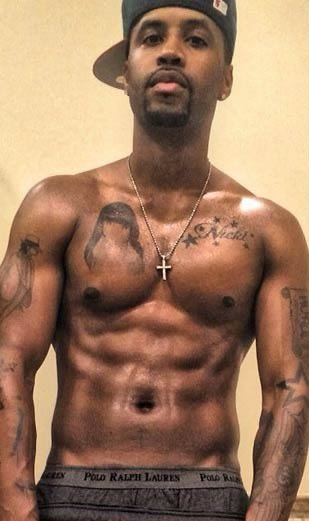 Trouble in Paradise?? Safaree Samuels Covers up Nicki Minaj Chest Tattoos