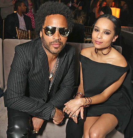 zoe and lenny kravitz bond over some latenight ink