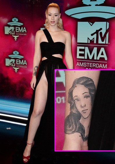 Iggy Azalea's Arm Tattoo of the Roman Goddess Venus