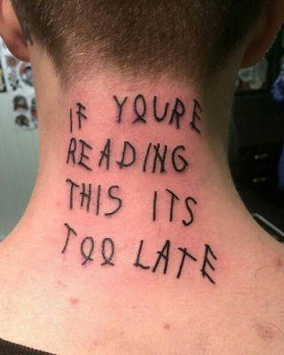 Die-Hard Fan Gets a Neck Tattoo of Drake's Mixtape Artwork