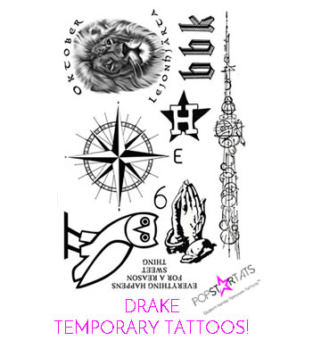 drake temporary tattoos-351