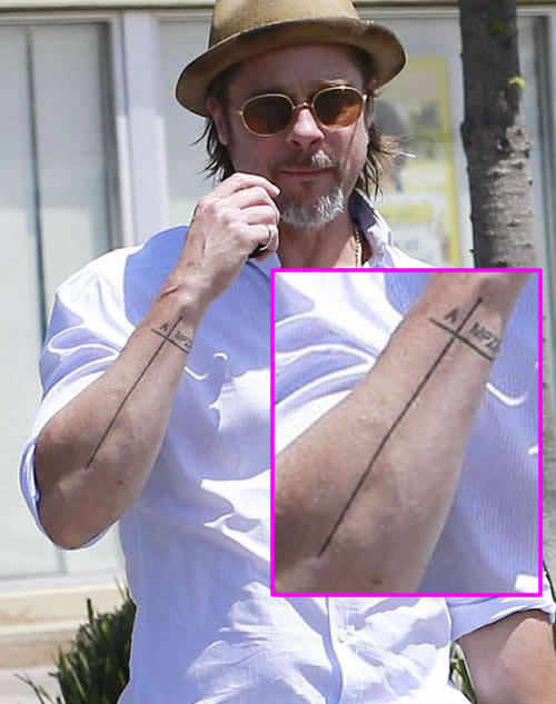 Brad Pitt Shows Off Never-Before-Seen Arm Tattoo Inspired ...