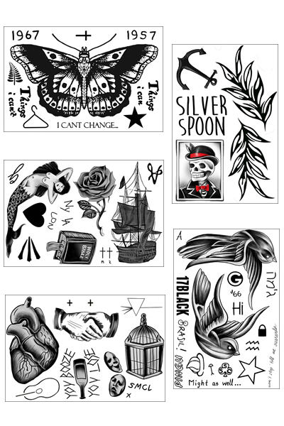 Harry Styles Temporary Tattoo Bundle