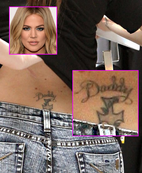 """Khloe Kardashian Removing Her """"Tramp Stamp"""" Tattoo in Honor of Her Late Father"""