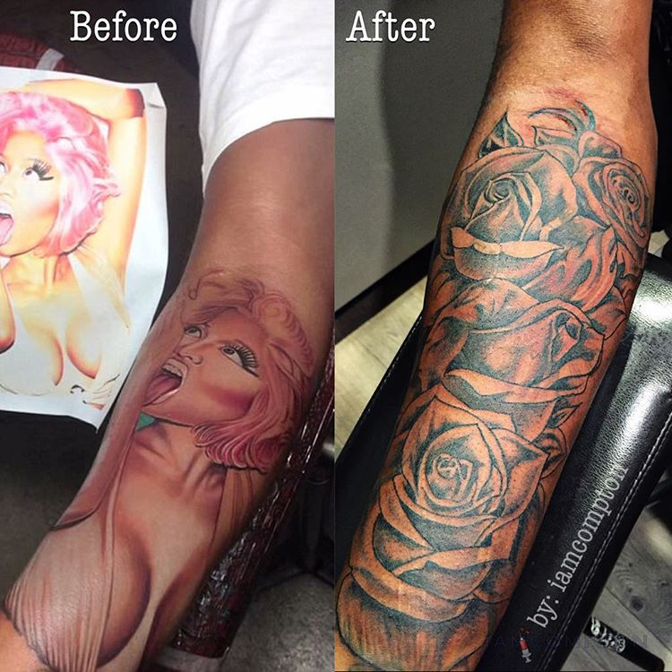 96f16faaa Safaree Samuels Finally Covers Up Nicki Minaj Tribute Tattoo on His Arm