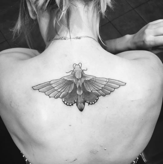 Kaley Cuoco Covers Up Wedding Date Tattoo With Giant Moth