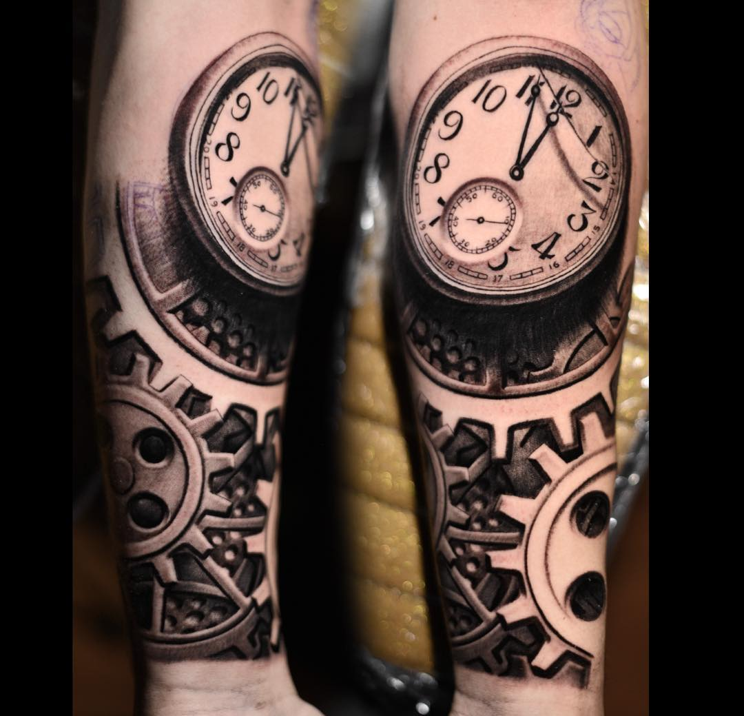 Clock forearm black rose sleeve tattoo - Liam Payne Gets Huge New Half Sleeve Tattoo And Reworks Roses Hand Tat