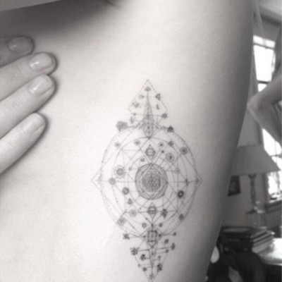 Ellie Goulding's New Ribcage Tattoo is Intricate, Beautiful and an Original Dr. Woo!