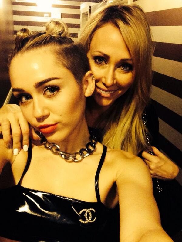 Miley Cyrus Gets Elvis Arm Tattoo w/ Mother Tish AND ...
