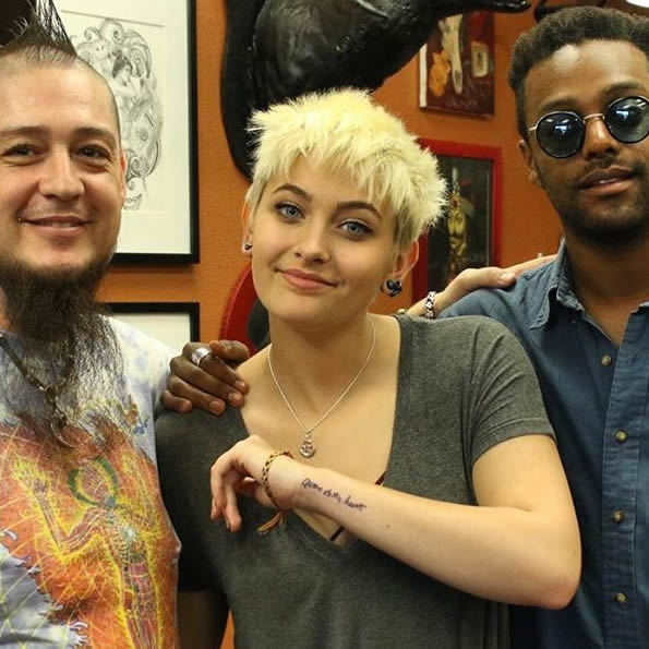 Paris Jackson's New Tattoo is a Tribute to Grandmother Katherine