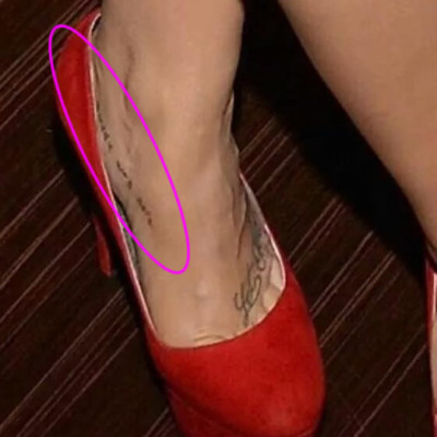"Demi Lovato's Hidden ""Buddy Was Here"" Foot Tattoo"
