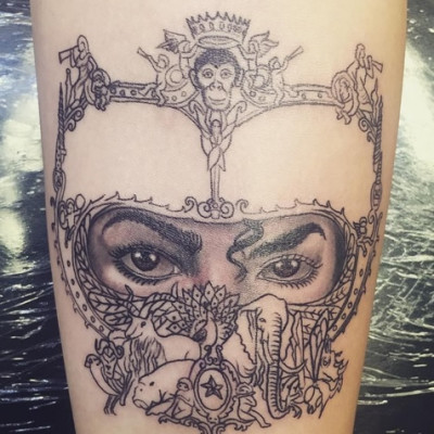 Paris Jackson Pays Tribute to Michael Jackson with Dangerous Cover Art Tattoo