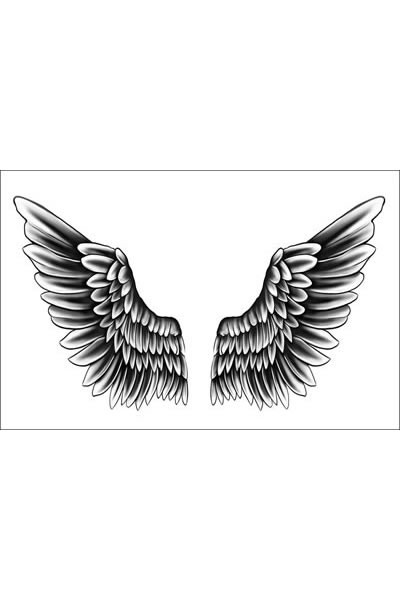 Justin Bieber Wings Temporary Tattoo