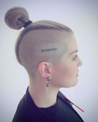 "Kelly Osbourne's ""Solidarity"" Head Tattoo a Tribute to Orlando Shooting Victims"