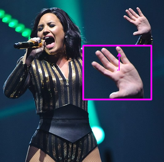 2fb401a20 Demi Lovato's New Smiley Face Pinky Tattoo is Too Cute for Words ...