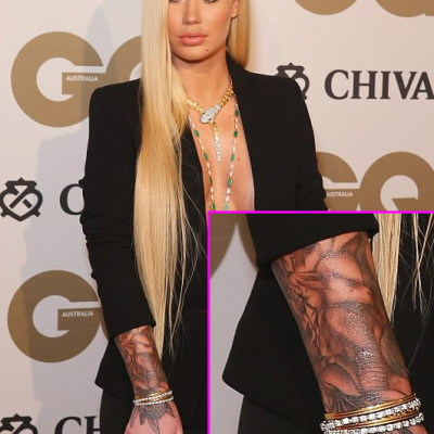 Iggy Azalea Shows Off Crazy New Tattoo Sleeve at GQ Men of the Year Award
