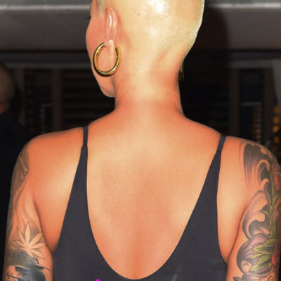Amber Rose Covers Wiz Khalifa Tat with Slash Portrait
