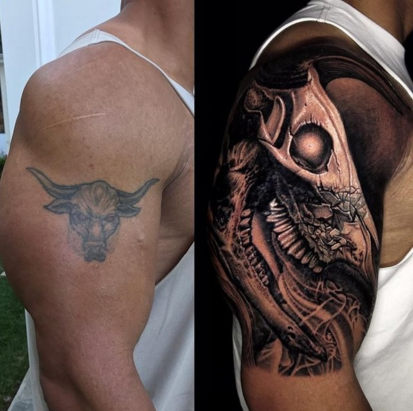 The Rock's Iconic Bull Tattoo Gets a Pretty Incredible Update