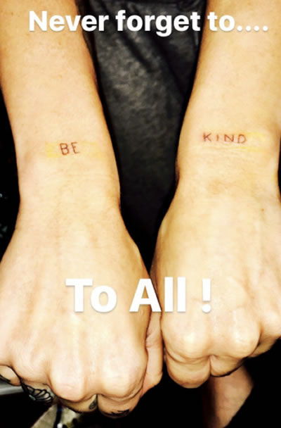 Miley Cyrus New Tattoo Reminds Us All To Be Kind Popstartats